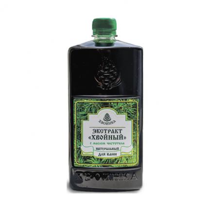 Экстракт Хвойный натуральный для ванн с эфирным маслом чистотела 1 л