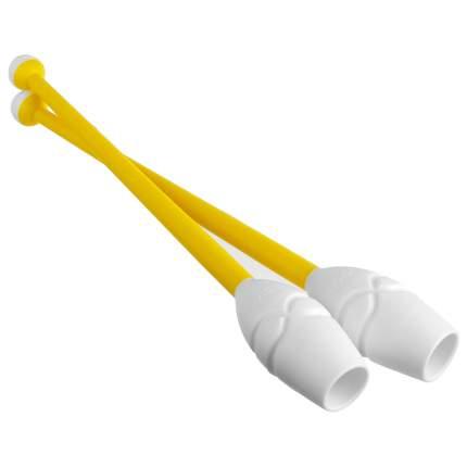 Булавы для гимнастики Sima-land 3464728 36 см, желтые/белые
