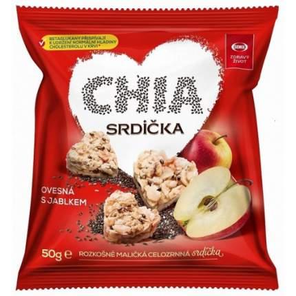 Мини-снеки Semix мюсли овсяные сердечки яблоко и семена чиа 10*50 г