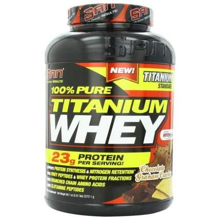 Протеин SAN Titanium Whey 100% Pure 2240 г Chocolate Graham Cracker
