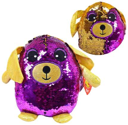 Собака с пайетками 20 см игрушка мягкая