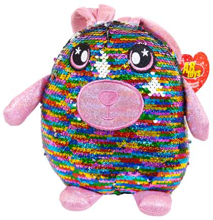 Заяц с пайетками 20 см игрушка мягкая