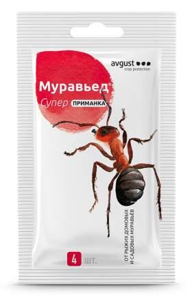 Средство защиты от вредителей Август НК340763 Муравьед супер приманка 4 шт. х 1,5 г