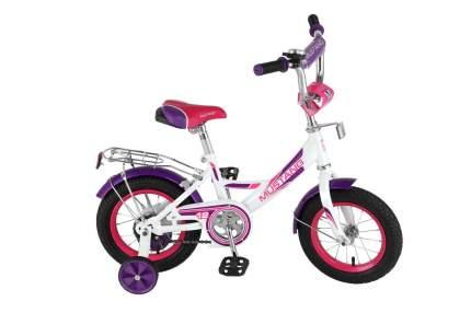 Велосипед детский двухколесный Mustang цвет бело-фиолетовый 12