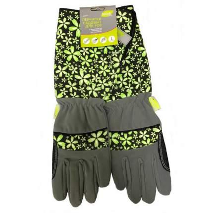 Перчатки для роз иск.замша и микроф. зеленый L LIV169-01 LISTOK
