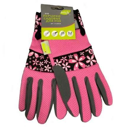 Перчатки для роз иск.замша полиэстр розовый М LIV168-05 LISTOK