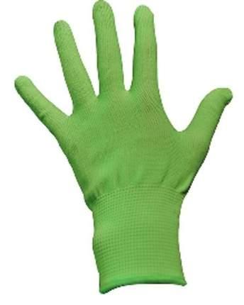Перчатки Зеленые без обливки M (12шт/уп)