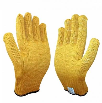 Перчатки Жёлтые без обливки M (12шт/уп)
