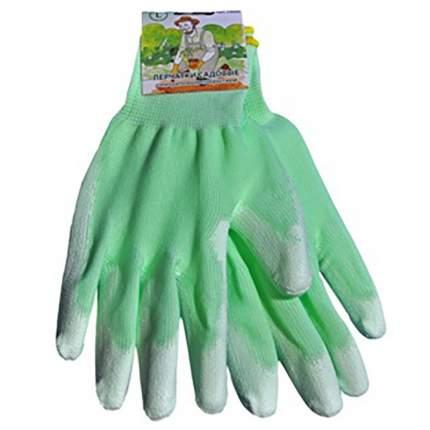 Садовые перчатки Русский огород 13400 зеленые размер S