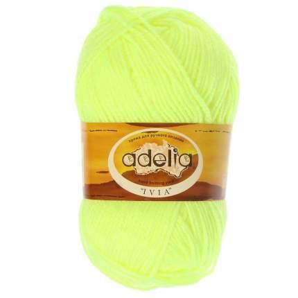 Пряжа ADELIA IVIA цвет 108 неон.желтый 4 мотка