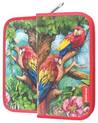 Пенал-книжка Erichkrause 110x205x25мм Parrot без наполнения