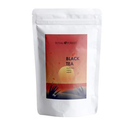 Черный чай (кэроб, клубника, годжи) Royal Forest 75 г