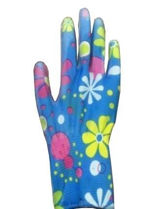 Перчатки нейлоновые с нитриловым покрытием ЦВЕТОЧЕК (ХБ-ОПТ)
