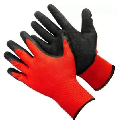 Перчатки в черной обливке красные L (12шт/уп)