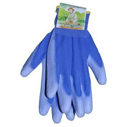 Перчатки голубые L