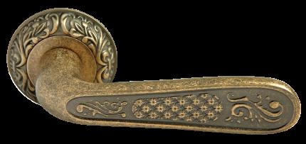 Ручка дверная Rucetti RAP-CLASSIC 1 OMB , цвет - старая матовая бронза