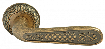 Ручка дверная Rucetti RAP-CLASSIC 2 OMB, цвет - старая матовая бронза