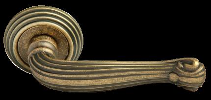 Ручка дверная Rucetti RAP-CLASSIC L 4 OMB, цвет - старая матовая бронза