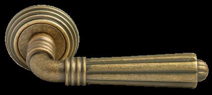 Ручка дверная Rucetti RAP-CLASSIC-L 5 OMB, цвет - старая матовая бронза