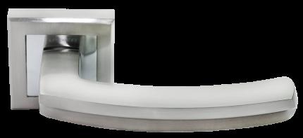 Ручка дверная Rucetti RAP 11-S SN, цвет - белый никель