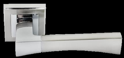 Ручка дверная Rucetti RAP 12-S SN, цвет - белый никель