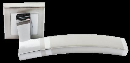 Ручка дверная Rucetti RAP 13-S SN, цвет - белый никель
