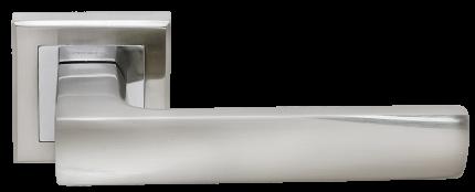 Ручка дверная Rucetti RAP 14-S SN/CP, цвет - белый никель
