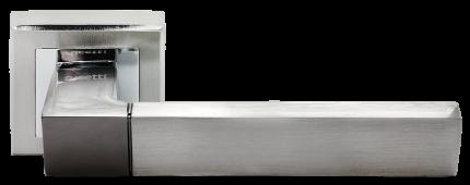 Ручка дверная Rucetti RAP 16-S SN/CP, цвет - белый никель