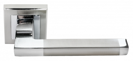 Ручка дверная Rucetti RAP 17-S SN/CP, цвет - белый никель