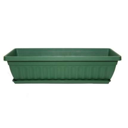 Ящик балконный с поддоном 50см терра, зеленый, мята, мрамор, салатовый, бежевый Либра