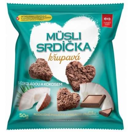 Мини-снеки Semix мюсли овсяные сердечки с кокосом и шоколадом 10*50 г