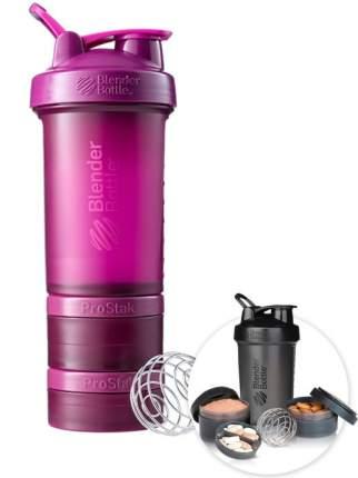 Шейкер с контейнерами и таблетницей BlenderBottle ProStak Full Color 624 мл plum
