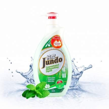 Гель для мытья посуды и детских принадлежностей Jundo Зеленый чай и Мята 1 л