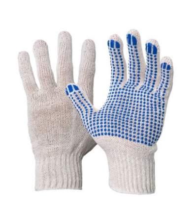 Перчатки х/б с ПВХ (5/10) белые волна (ХБ-ОПТ)