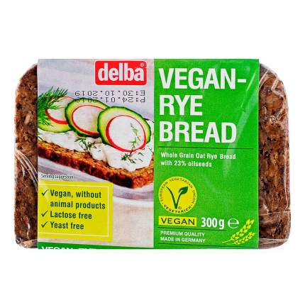 Хлеб Delba цельнозерновой вегетарианский со злаками, 300 гр.