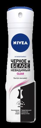 Антиперспирант Nivea Спрей женский Невидимая защита для черного и белого Клер 150мл