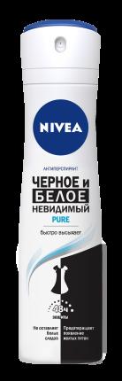 Антиперспирант Nivea Пьюр Невидимая защита для черного и белого 150 мл