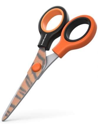 Ножницы Erichkrause Junior Decor Tiger с принтом на лезвиях, 13см