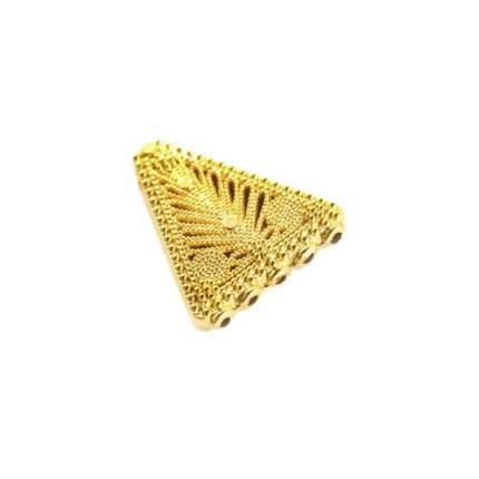 """Декоративный элемент коннектор 217,27*24*4MM, 5шт/упак (золото) """"Астра"""" арт.7705777"""