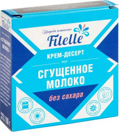 Крем-десерт Фит Парад сгущенное молоко без сахара 100 г