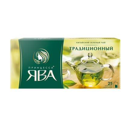 Чай зеленый Принцесса Ява Традиционный 25 пакетиков