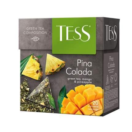 Чай зеленый в пирамидках Tess Pina Colada 20 пакетиков
