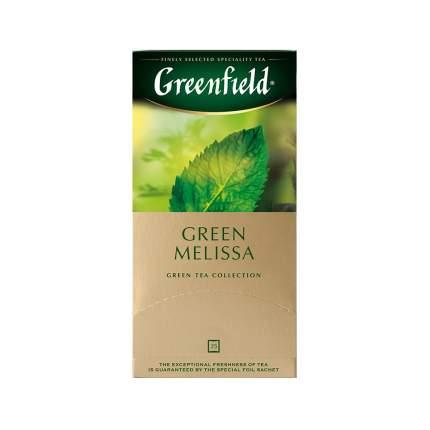 Чай зеленый Greenfield Green Melissa 25 пакетиков