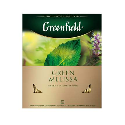 Чай зеленый Greenfield Green Melissa 100 пакетиков