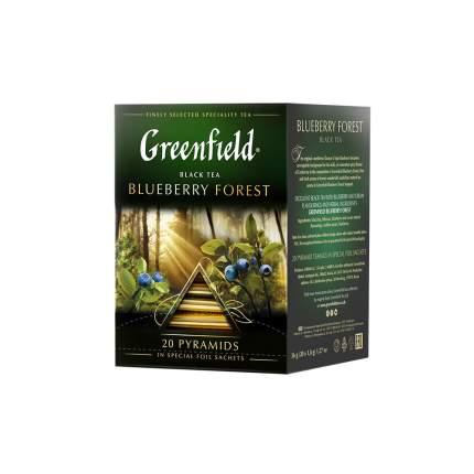 Чай черный  в пирамидках Greenfield Blueberry Forest 20 пакетиков