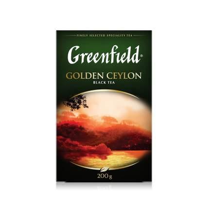 Чай черный Greenfield листовой golden ceylon 200 г