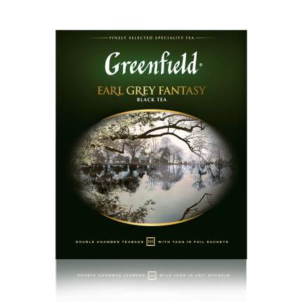 Чай черный Greenfield Earl Grey Fantasy 100 пакетиков