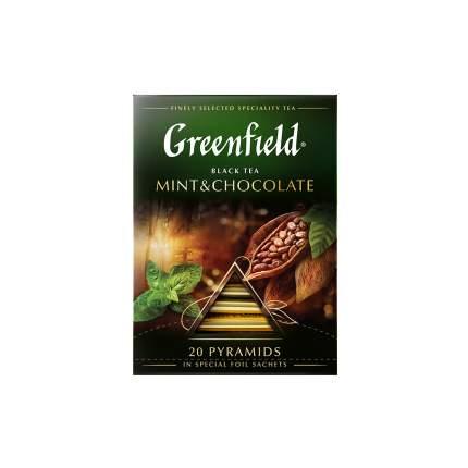 Чай черный  в пирамидках Greenfield Mint & Chocolate 20 пакетиков