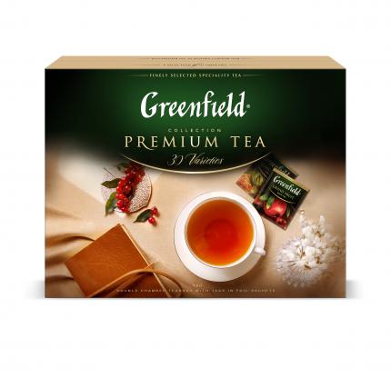 Набор чая и чайных напитков Greenfield Collection в пакетиках для чашки 30 видов 120 штук