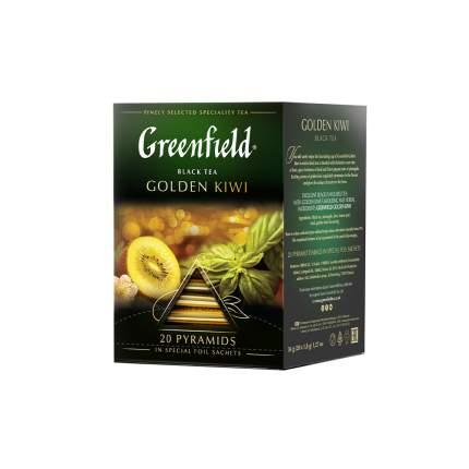 Чай черный в пирамидках Greenfield Golden Kiwi 20 пакетиков